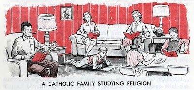 Catholic Family Studying Religion