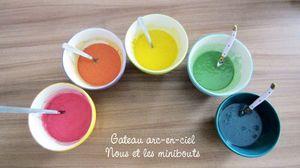 Rainbow cake -- Mélanger les colorants à la pâte