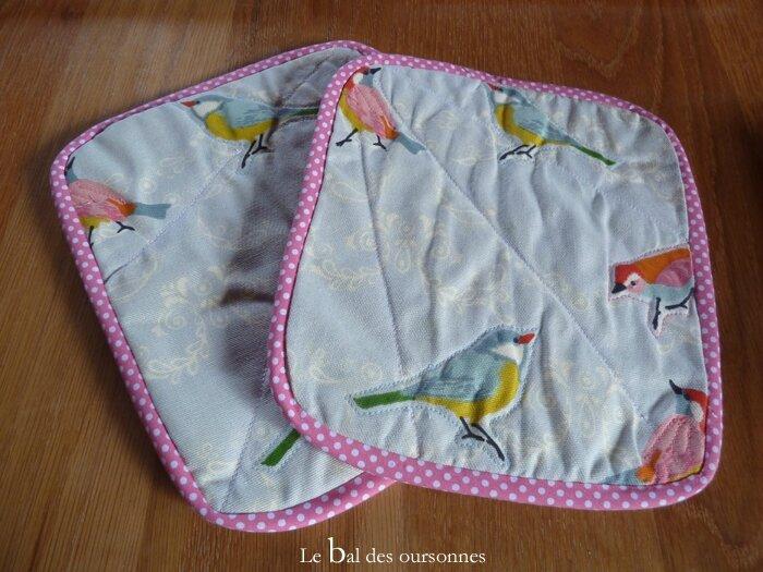 61 Maniques Oiseaux Couture 6