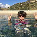 baignade à Bahia di Carbonara 27 octobre 2014