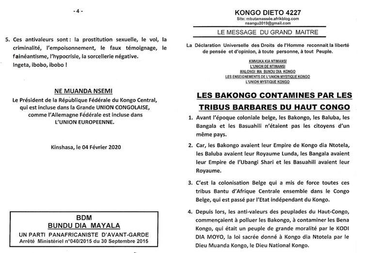 LES BAKONGO CONTAMINES PAR LES TRIBUS BARBARES DU HAUT CONGO a