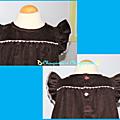 robe suzanne marron détails