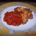 Pilons de poulet aux poivrons rouges