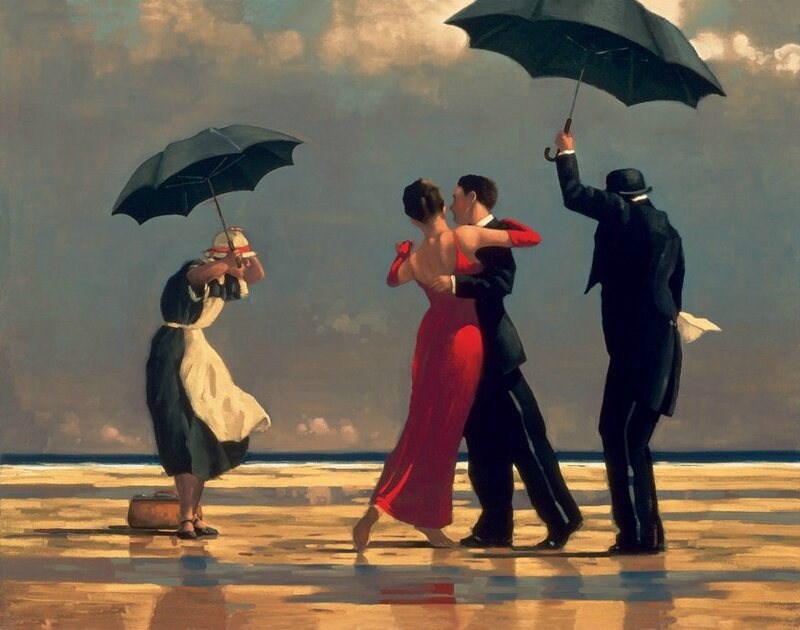 The Singing Buttler - Jack Vettriano (1992)