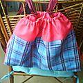 jupe recyclée en sac de piscine