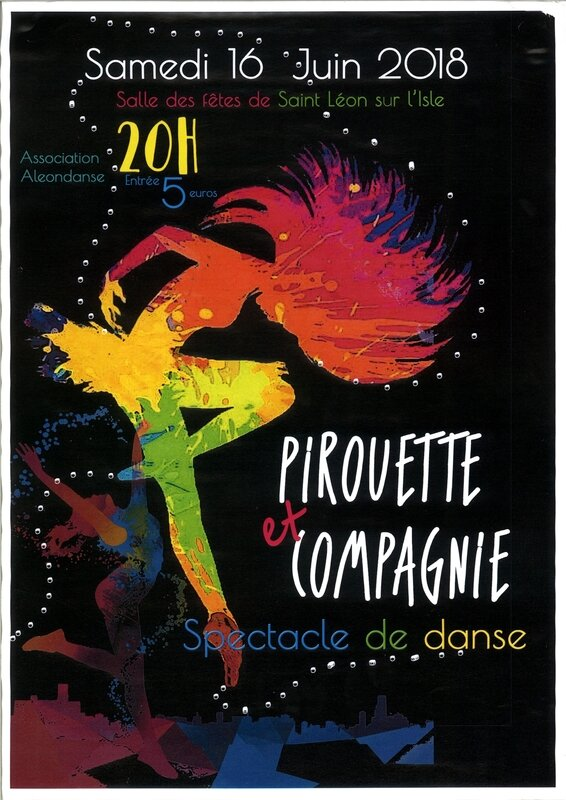 Affiche Gala de la section danse