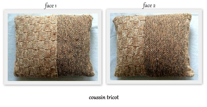 1-coussin tricot