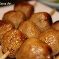 Tsukune : brochettes de boulettes de poulet