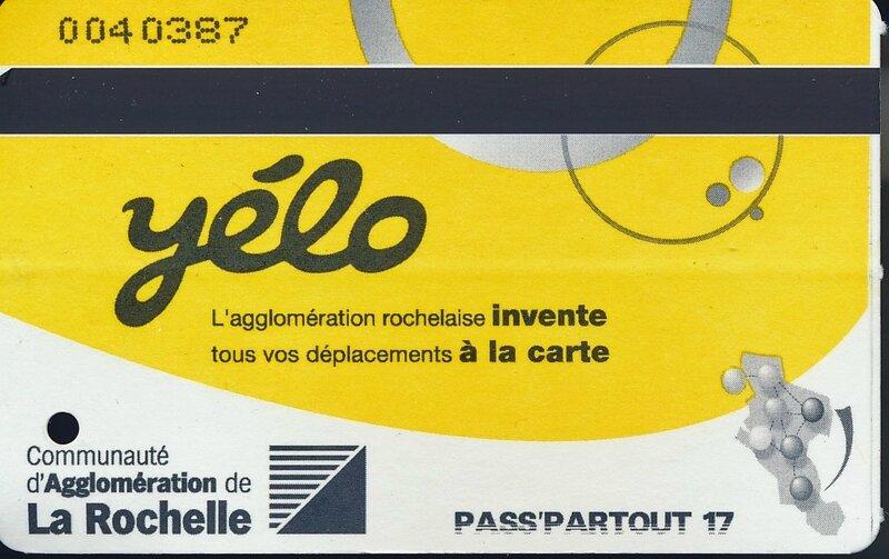 Ticket de bus La Rochelle 2017