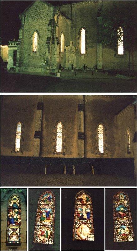Vitraux de l'église sous les sunlights