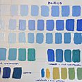 Gamme 3- bleus - terre verte