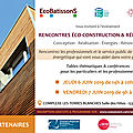 Rencontres éco-construction & rénovation à bouc-bel-air