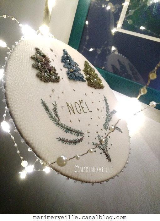 galette petits sapins de Noël création 1©Marimerveille