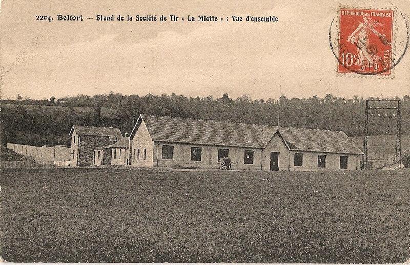 Belfort CPA Le Mont Stand Tir Vue d'ensemble