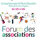 Forum des associations le 1er septembre 2018