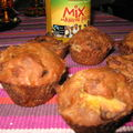 Muffins-pain d'épices au jus multivitaminé mangue/passion ethiquable et aux fruits secs: by lisanka