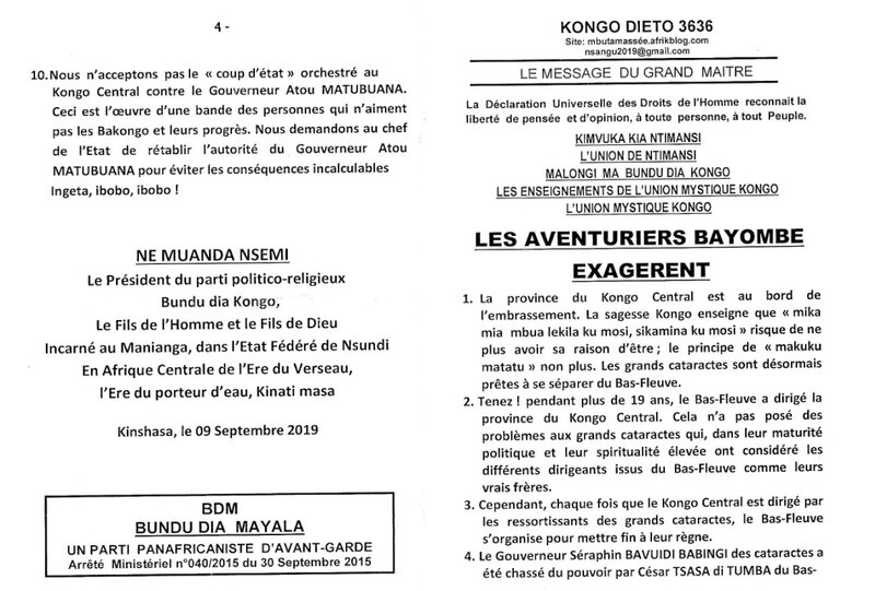 LES AVENTURIEUX BAYOMBE EXAGERENT a