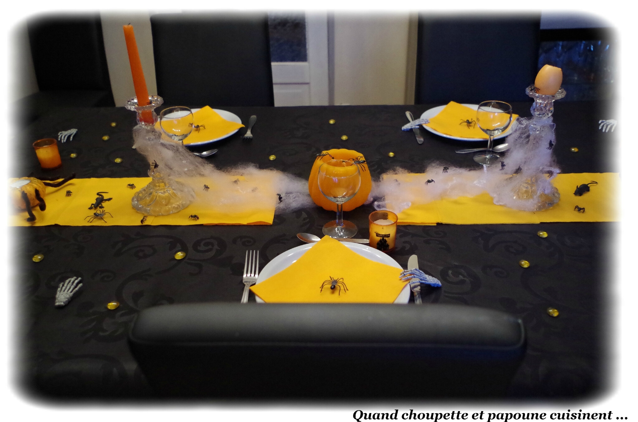 DECORATION DE TABLE POUR HALLOWEEN