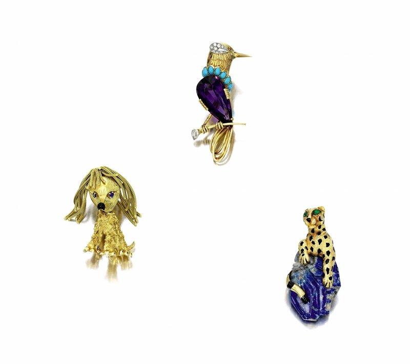 Lapis Lazuli, Enamel and Emerald Clip Brooch, 'Panthère', Cartier