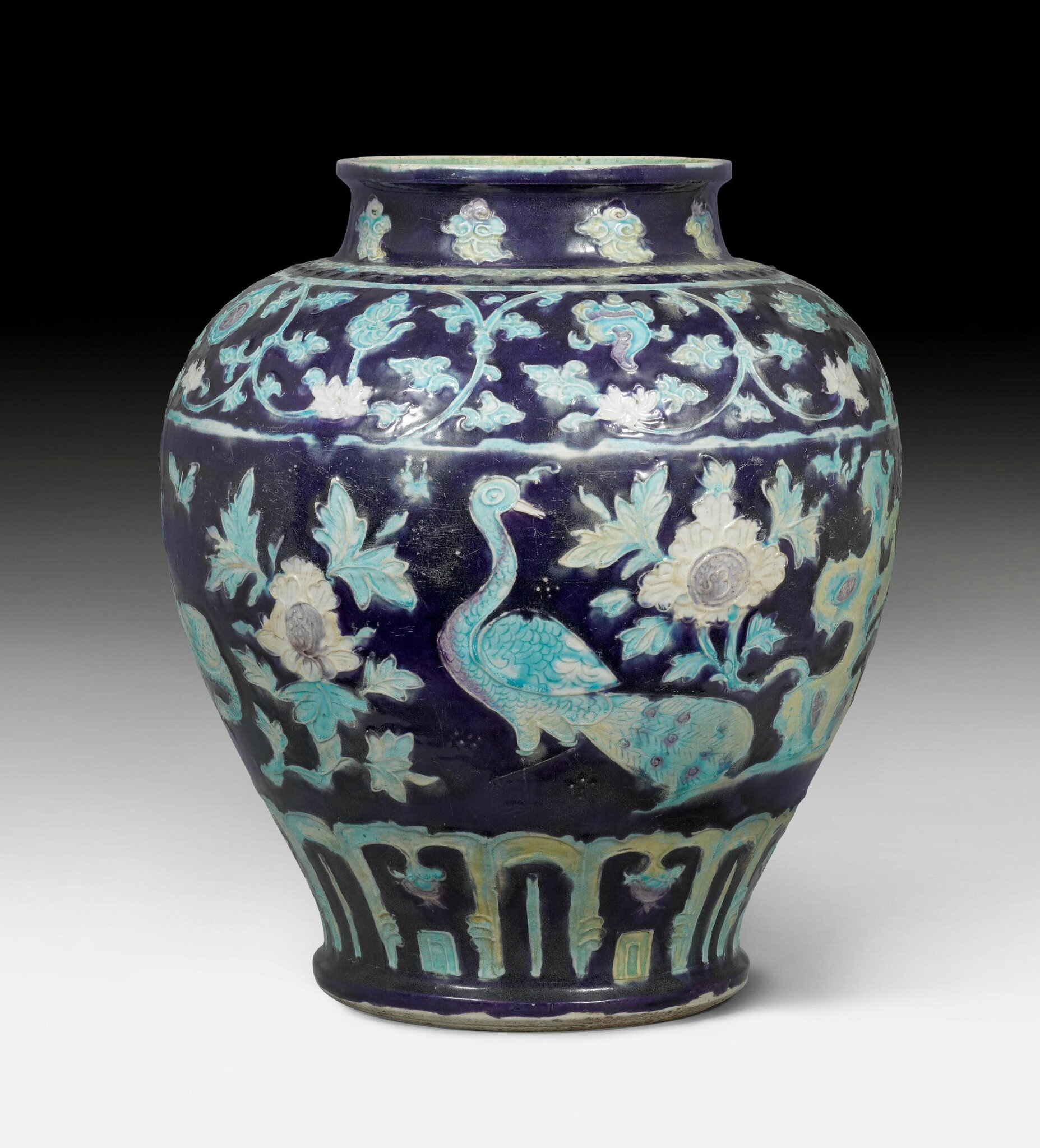 A magnificent Fahua jar, China, Ming dynasty