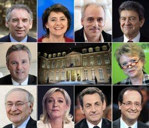 élection présidentielle 2012 1er tour les 10 candidats