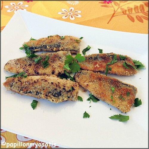 sardines panées
