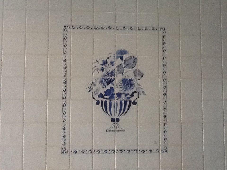 Panneau en faïence genre Delft
