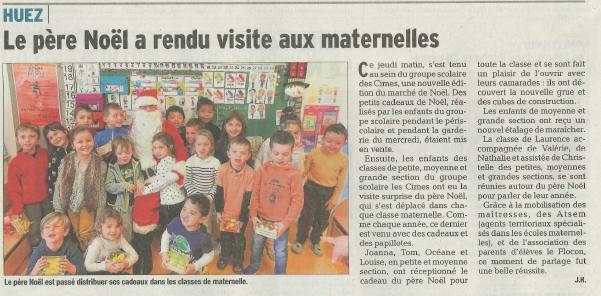 Article DL - Pere Noël à l'école
