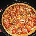 Tarte feuilletée à la tomate et au caviar d'aubergines
