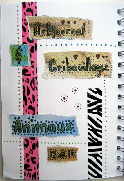 art journal gribouillage animaux