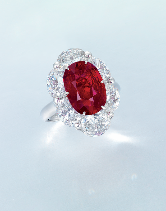 An important ruby and diamond ring