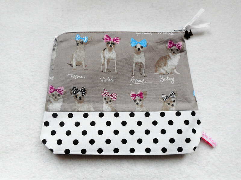 Trousse chihuahuas pois dos