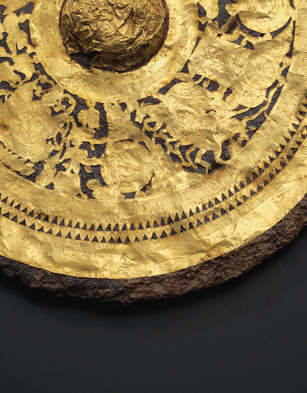 2019_NYR_18338_0526_001(a_gold_foil-decorated_iron_mirror_late_eastern_han-early_six_dynasties)