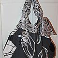 sac boule noir gris blanc