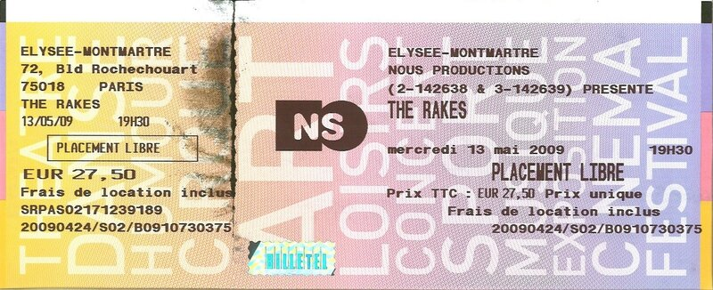 2009 05 The Rakes Billet