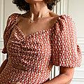 La robe sixties de popeline et linon