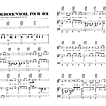 Joue pas de rock n roll pour moi - johnny hallyday (partition - sheet music)