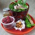 Salade en kit de canard aux framboises