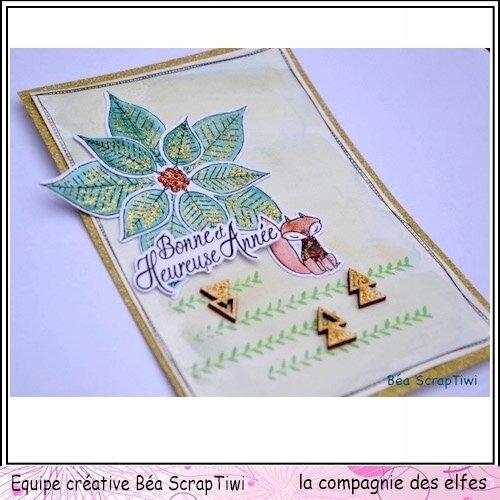 Carte de voeux, Poinsettia 1'