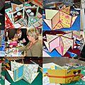 Photos de l'atelier mini album à la boutique dec'art