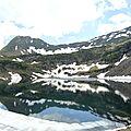 Gourette, M, Les trois Lacs, lac d'Uzious et neige (64)
