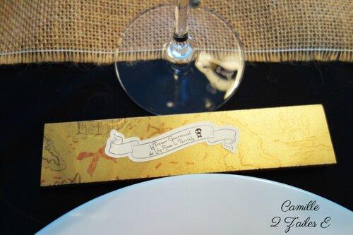 contenant dragee long carte tresor gourmand noir or