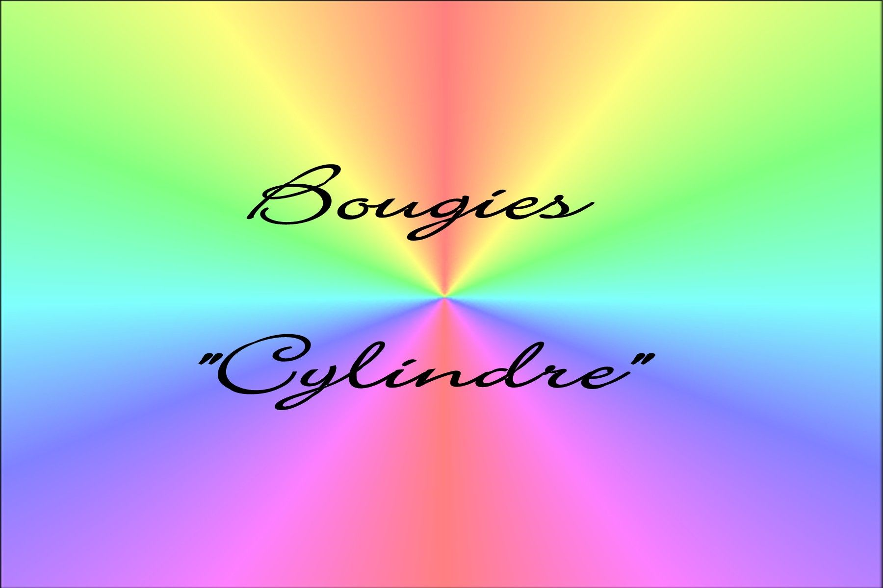 bougie cylindre