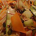 Rubans multicolores vinaigrette facon thai