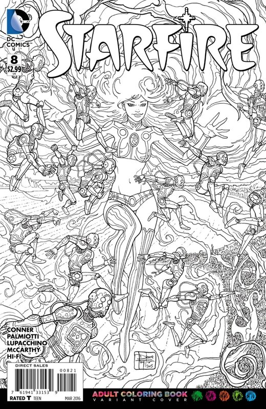 starfire 8 adult coloring variant