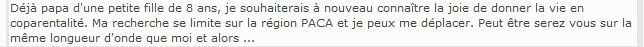 annonce papa nice