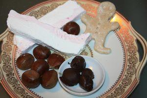 guimauve framboise truffe praline
