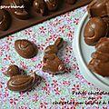 Petits chocolats au chocolat au lait et à l'amande