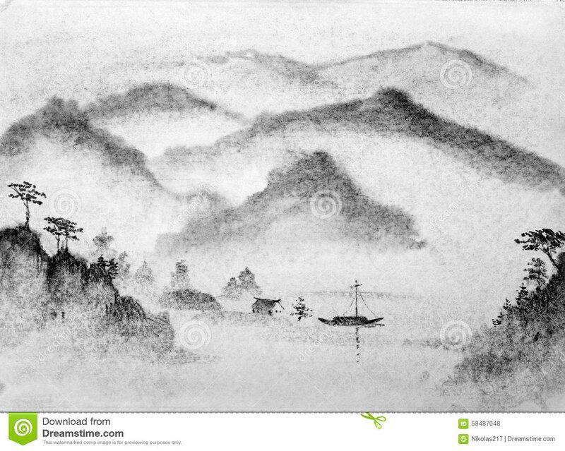 montagnes-et-eau-de-peinture-chinoise-59487048