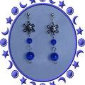 Boucles d'oreilles solari bleue